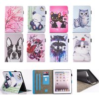 Wholesale Owl Tablet Cases - Cartoon fat cat owl Character PU Leather cover For apple ipad 2 ipad 3 ipad 4 case Tablet Protective Cover