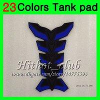 yamaha fzr al por mayor-23Colors Protector de almohadilla del tanque de gas de fibra de carbono 3D para YAMAHA FZR250R 93 94 95 FZR250 R FZR 250 R FZR 250R 1993 1994 1995 3D Etiqueta engomada de la tapa del tanque