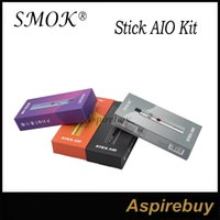 Wholesale Black Holes - SMOK Stick AIO Kit Built-in 1600mAh Battery with 2ml Capacity Improved E-Juice Wicking Holes Standard Edition 100% Original