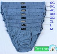 Wholesale Men 5xl Briefs Underwear - cotton men underwear middle waisted U convex men briefs 7 colors M-6XL comfortable sweat-absorbent breathable free shipping