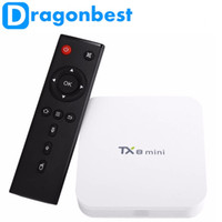 Wholesale Mini Tf 2g Cards - android box tv TX8 mini Android 6.0 Marshmallow Amlogic S912 TV BOX 2G 16G 802.11ac 1000M LAN WIFI Bluetooth 4.0 TF CARD Support 1~32GB