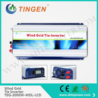Wholesale Lcd Pure Sine Wave Inverter - Dc input 45-90v to ac output 190-260v pure sine wave with lcd display 2000w 2kw grid tie windmill turbine inverter