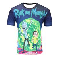 Wholesale flash funny - Wholesale- New Fashion Rick And Morty T-shirt Women men Harajuku Tee Shirt Printed 3d Cartoon T Shirt Camisetas Funny Clothing