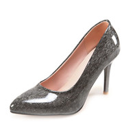 Wholesale Women S Black Pumps - SJJH Sexy women special materail pumps with stiletto heel and pointed toe for fashion girls and working 2017 new arrival shoes S