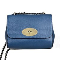 Wholesale O Handbag - Wholesale-100% Real genuine leather women bags lily o word chain one shoulder small bag women messenger bags handbag leather bag B70-198