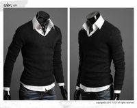 Wholesale Mushrooms Men - Free Shipping - New Mushroom Men sweater buckle design men's long-sleeved sweater
