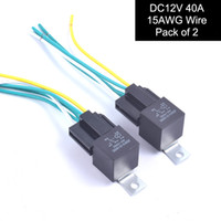 Wholesale Relay Wire Harness - Auto Car Relay Switch 5 Pre-wired Harness 12V DC 5-Pin SPDT Contactor Set 40Amp Premium Copper Wire - Pack of 2