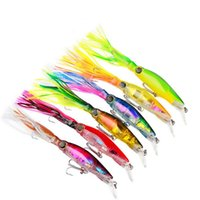 Wholesale Plastic Minnow Fishing Bait - New Arrival Sleeve-Fish Fishing Tackle 14cm 40g octopus Squid Lure Hard Plastic Fishing Lure Trolling Bionic isca Artificial Minnow BAIT DHL