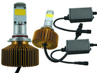 Wholesale Free ship High brightness V COB LED Headlight KIT K