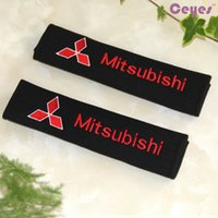 Wholesale Diamante Accessories - Pure Cotton Safety Belt Cover for Mitsubishi asx lancer9 10 l200 pajero colt Car Seat Belt Cover Car Accessories Styling 2PCS LOT
