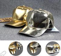 Wholesale baseball caps blanks for sale - Group buy HIP HOP DIY Blank PU Hats Adjustable Bright Caps light board wild baseball cap light cap