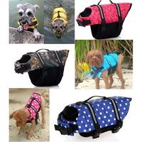 Pet Dog Save Life Jacket Vestiti di sicurezza Life Vest Saver Out Pet Preserver di cane da compagnia Grandi vestiti di cane Costumi da bagno estate 0704091