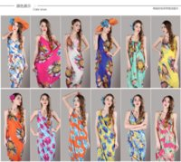 Wholesale Beach Towel White Orange - 2017 summer harness beach dress sarongs Beach towels shawl sarongs cover up women's wrap for Swimsuit cover up Swimwear 140*70
