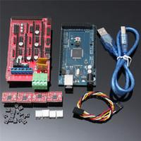 arduino drucker groihandel-Freeshipping Mega 2560 + RAMPS 1.4 Controller + 4 stücke A4988 Stepper Treibermodul + für 3D Drucker KIT Für Arduino RepRap
