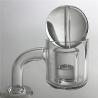Wholesale Glass Bends - Quartz Core Reactor Banger Thermal Banger Domeless Quartz Nail with 10mm 14mm Male Female Evan Shore Honey Bucket for Glass Water bong