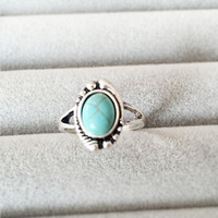 Wholesale China Wholesale Evil Eye - New Fashion Rings Retro Style Evil Eye With Turquoise Women Men Party Ring Jewelry Festival Gifts EFR011