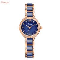 Wholesale white gold friendship bracelets - Fashion New Gold Ladies Watch Women Elegant Bracelet Stainless Steel Wristwatch Friendship Relogio Feminino Quartz Watch Female