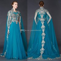 Wholesale Evening Wear Shawls Black - real photos Arabia vintage shawl evening dresses 2018 heavily embroideried mother of the bride dresses sweep train a-line evening gowns