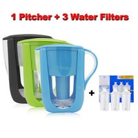 Wholesale Drinks Bucket - Free Shipping Home Straight Drink Filtered Tap Water Kettle Filter 1 Pitcher+3 Cartridge Water Filters Carbon for Brita Filter