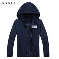 Wholesale Wholesale Outdoor Jackets - Wholesale- 2016 brand mens spring autumn jacket men casual Slim fit thin jacket Outdoors Mens stander collar bomber jacket veste homme #788