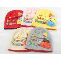 Wholesale Knitted Hats Kids For Summer - Korean Fashion Baby Bonnet Beanie Crochet Winter Hats Gorro Knit Kid Sun Cap Headawraps For Infant