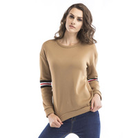 Wholesale Embroidered Tops For Women - Autumn and winter women T-SHIRT new long sleeve cashmere sweater woman t shirt designer letters embroidered crop tops shirts for women