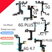 Nuevo botón de encendido y apagado Flex Cable para iPhone 5 5S 5C 6 6S Plus 6Plus Silenciador de volumen Switch Connector Ribbon Parts