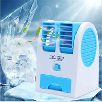 Wholesale Ice Air Conditioning - Portable Mini USB Fragrance Refrigeration Fan Cool Fans with ice slot two outlet Air Conditioning home Appliances with Retail Packaging