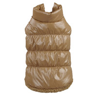 Wholesale Dog Down Coat - Hot Winter Dogs Pet Cat Padded Vest Coat Puppy Warm Down Fleece + Polyester Jackets Clothes XS-XXL