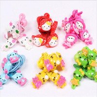 Wholesale Kawaii Baby Headbands - Wholesale- 2016 Fashion Hello Kitty Hair Accessories Baby Headband Kids Cute Hair Clip Elastic hair Bands Headbands Kawaii Hairpin For Girl
