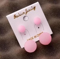 2017 Moda Amazon Hot Korean Girls Soft Jelly Candy Colorido Plastic Ball Stud Earrings Sport Lovers