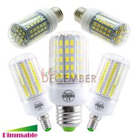 Wholesale E26 Led 7w - E12 E14 E26 E27 B22 LED Dimmable 7W 12W 15W 18W 21W 30W Super Bright SMD5730 LED Corn Light Lamp Bulbs