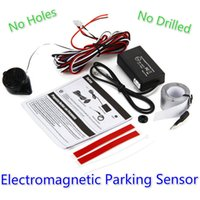 Agujero Sensor Electromagnético Baratos-2017 Car Auto Electromagnetic Parking Sensor No Agujeros Necesita Instalación Fácil Parking Radar Parachoques Guarda Back-up Parking Sensor System