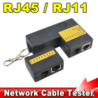Lo nuevo útil portátil Mini RJ45 RJ11 Cat5 Cat6 Red LAN Probador de cable con llavero 9 LED Detector de Ethernet Cable Tracker