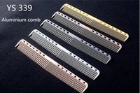 Wholesale Aluminum Paddles - Professional Aluminum Hairdressing Cut Comb Durable And Antistatic Barber Haircut Comb In Alunimium Can Use For Long Time