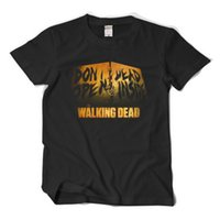 La maglietta Dead Walking Daryl Dixon non aprire Dead Inside Cosplay Costume Men Uomo Short Short Sleeve T Shirt Cotone Tops