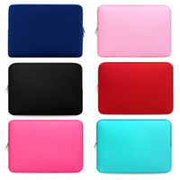"Wholesale Neoprene Sleeve For Notebook - Macbook Sleeve Laptop bag Neoprene Sleeve Air Pro Soft Case Cover Bag for Apple Samsung Notebook 12"" 13"" 15"" 15.6"" inner bag"