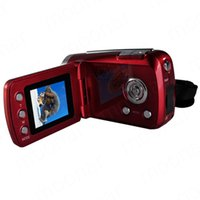Wholesale Camera Battery Grip - Wholesale Top Quality Mini DV 1.8 inch D1 Pcs Camera 4 x Digital Zoom 12 Mega pixel TFT LCD Camcorder with Hand Grip Black Red LS*DA0471*