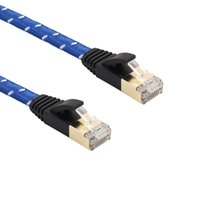 Wholesale Flat Network Cable - 10m CAT7 Ethernet Internet Network Patch LAN Flat Cable Cord For Computer Laptop