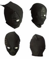 ingrosso mascherine supereroe nere-Black Deadpool Maschere Superhero Balaclava X-men Cappelli Copricapo Partito Collo Zentai Hood Maschera Full Face Costume Cosplay Spedizione Gratuita
