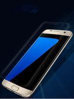tpu anti şok ekran koruyucusu toptan satış-Premium Ultra Slim Tam Kapsama Kavisli Yumuşak TPU Anti-Şok Yüksek Clear Ekran Koruyucu Için iPhone 6 6 S 7 Samsung Galaxy S6 S7 S8 Kenar Artı