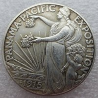 metal pacific brass - 1915 S Panama Pacific Exposition Commemorative Half Dollar Copy Coins old style Copy coin