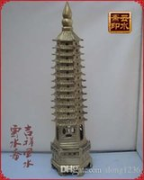 Wholesale Wang Art - Open brilliant brass thirteen 13 layer Wenchang tower to increase knowledge to help test Wang academic Decoration