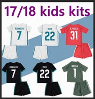 Wholesale Wholesale Real Madrid - DHL-2017 2018 Real Madrid kids soccer jersey Wholesale sports kits youth boys child jerseys uniform RONALDO JAMES BALE ISCO football shirts