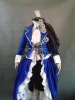 vestido de bola victoriano azul real al por mayor-Vestido medieval azul marino de la nave libre Vestido de la reina del vestido renacentista Victorian / Marie Antoinette / guerra civil / Colonial Belle Ball