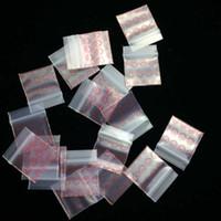 po sacs en plastique zip lock achat en gros de-Les sacs en plastique modelés par PE de l'herbe 100 PCs / lot verrouille la fermeture éclair