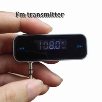 Wholesale Mhz Transmitter - Brand new fm transmitter US01 3.5mm 87.5 to 108 mhz Wireless LCD Stereo Audio Player for iphone 5 6 7 plus samsung s8 s8 plus with package