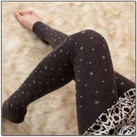 Wholesale Discount Leggings Women - Wholesale- Free shipping Women winter thermal wool leggings Women winter black leggings Promotional discount 5 color girl leggings