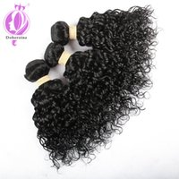 Água peruana de qualidade superior Virgin Hair 3 Bundles 8-30 INCH Unprocessed Human Hair Weave Extensions Natural Black