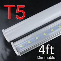 Wholesale Cheap Fluorescent Light Bulbs - Dimmable led lighting T5 Integrated led tubes New design switch Light bulb Led Fluorescent Lighting 1200mm 4FT 18W AC85-265V wholesale cheap